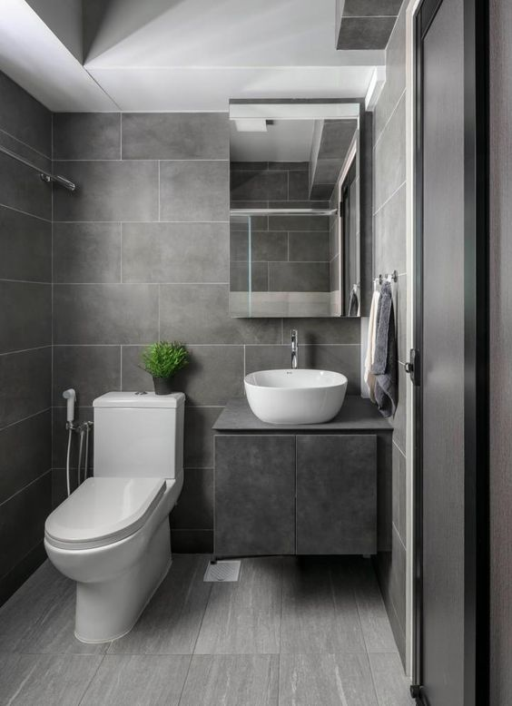 gray bathroom ideas; Scandinavian Bathroom Ideas; modern bathroom designs; #bathroomdecors #bathroomideas #bathroomdesigns