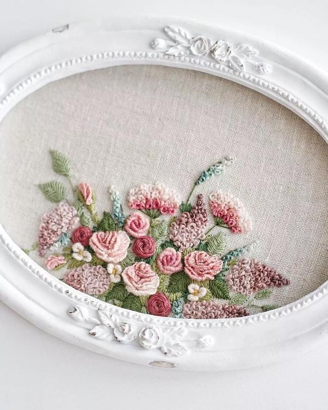 Handmade DIY beauty to indescribable embroidery roses - Page 23 of 24 - VimDecor