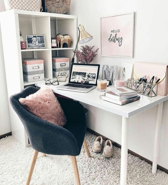 Organizing Homeoffice Ideas: 30+ Girly Pink Home Office Ideas That You Want To Work All