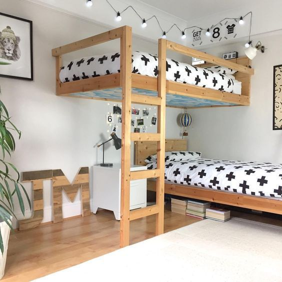 kids room ideas, kids shared room ideas, kids room ideas shared loft for small space