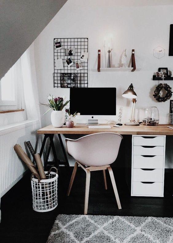 35 Black And White Decorating Ideas For Home Office Designs Page 30 Of 37 Vimdecor